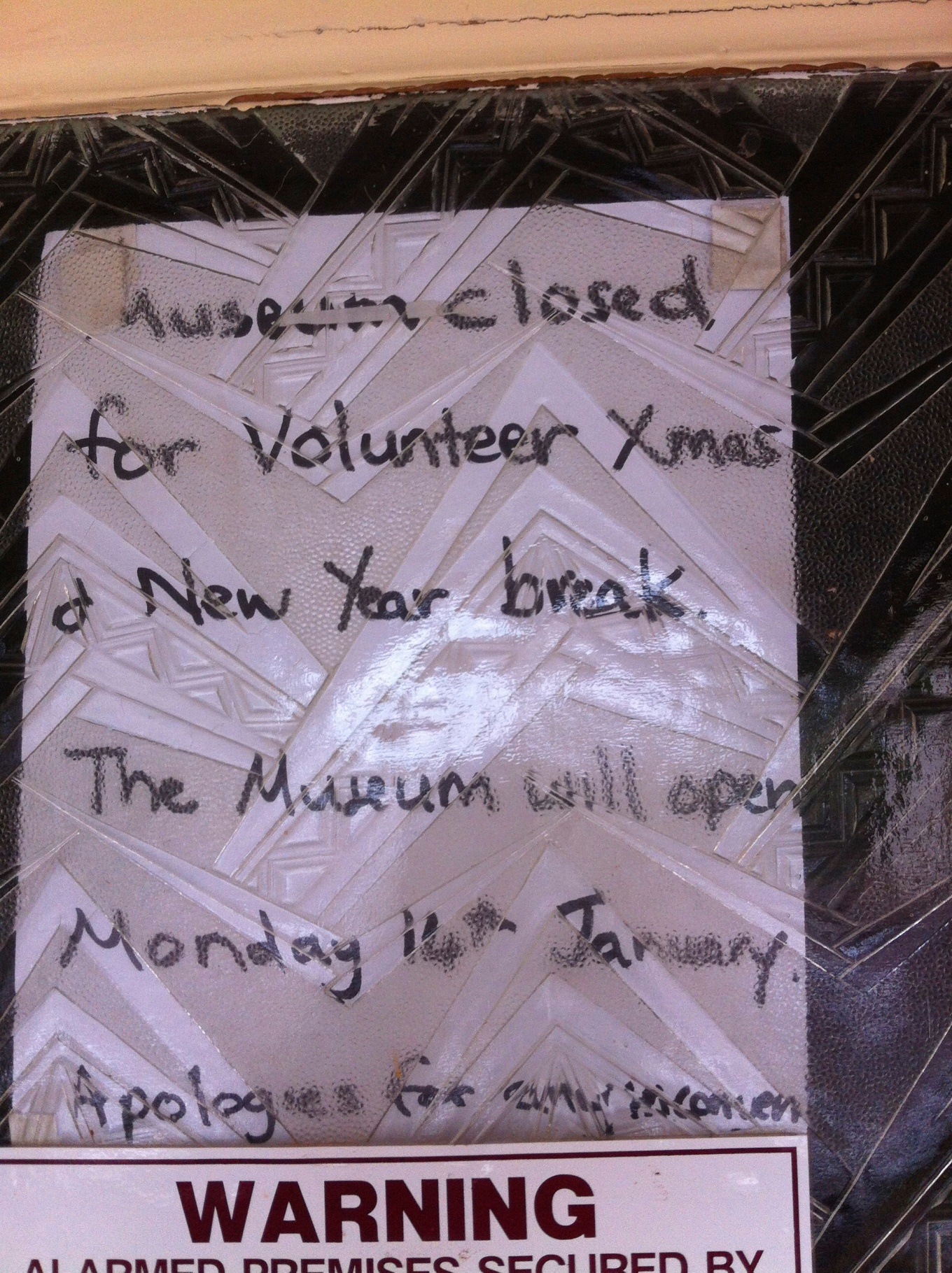 Questionable hours though window