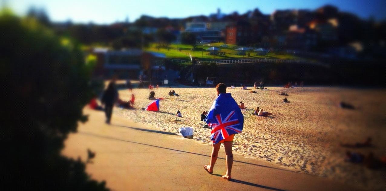 Aussie Flag and Beach
