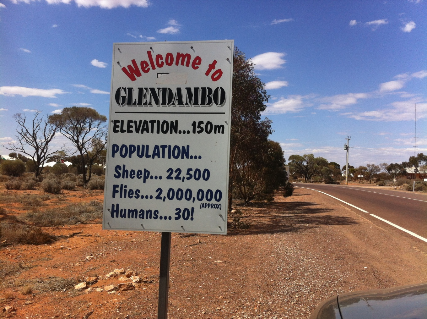 Glendambo Sign