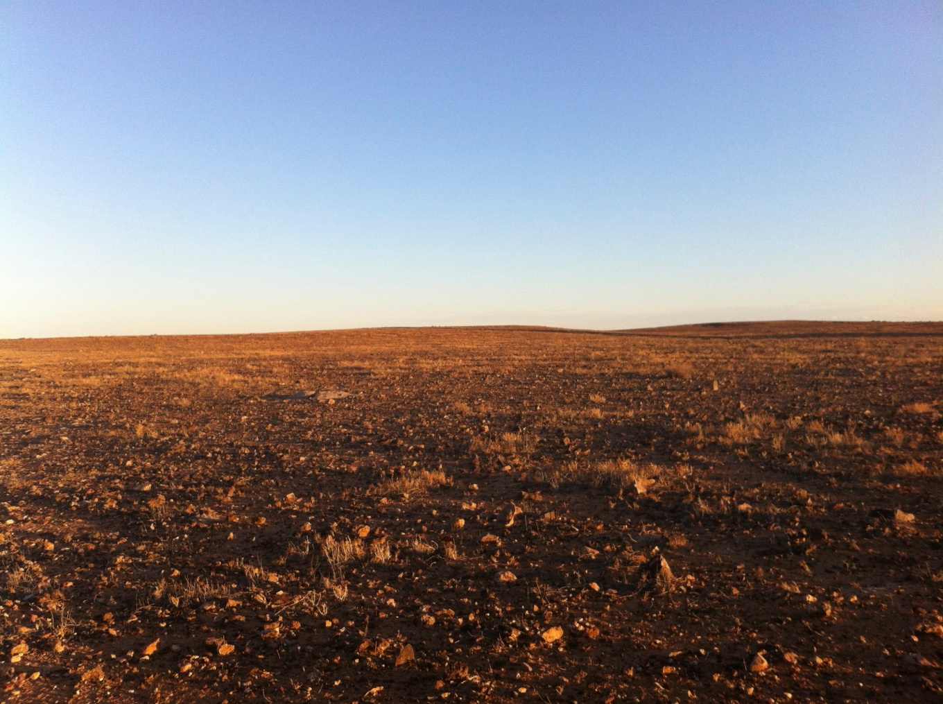 moon in outback Australia